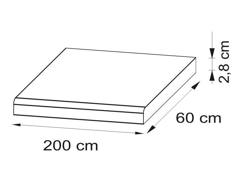 Pracovná doska 200 cm - BRW - Nika - BLAT/200